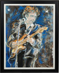 "Music Memorabilia:Original Art, Ronnie Wood ""Bob Dylan"" Artist's Proof Print (c. 1980s)...."
