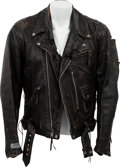 "Movie/TV Memorabilia:Costumes, An Arnold Schwarzenegger Motorcycle Jacket from ""Terminator 2:Judgement Day.""..."