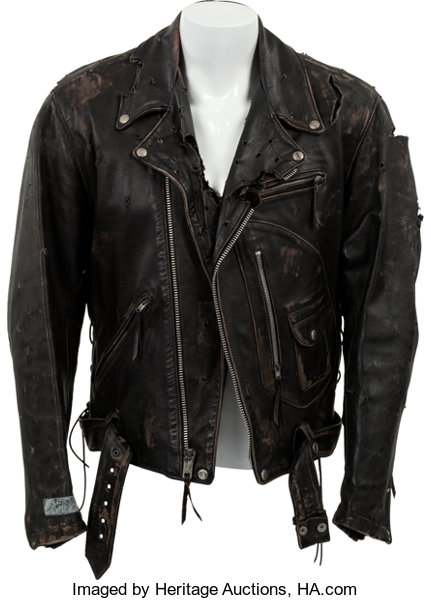 74871371f An Arnold Schwarzenegger Motorcycle Jacket from