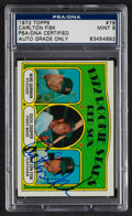 Autographs:Sports Cards, Signed 1972 Topps Carlton Fisk Rookie #79 PSA/DNA Mint 9. ...