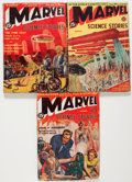 Pulps:Science Fiction, Marvel Science Stories Group (Red Circle, 1938-39) Condition:Average GD/VG.... (Total: 3 Comic Books)