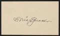 Baseball Collectibles:Others, 1950 Tris Speaker Signed Government Postcard....