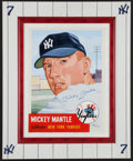 "Baseball Collectibles:Others, Mickey Mantle Signed Original Gerry Dvorak Oil Painting ""No. 7""Inscription!..."