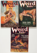 Pulps:Horror, Weird Tales Group (Popular Fiction, 1937-38).... (Total: 3 ComicBooks)