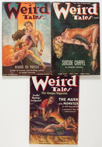 Weird Tales Group (Popular Fiction, 1937-38).... (Total: 3 Comic Books)