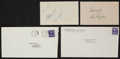 Golf Collectibles:Autographs, 1949-50 Sam Snead and Ben Hogan Signed Index Cards Lot of 2....