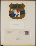 Baseball Collectibles:Others, Connie Mack Signed Index Card Display....