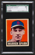 Baseball Cards:Singles (1940-1949), 1948 Leaf Warren Spahn #32 SGC 60 EX 5....