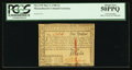 Colonial Notes:Massachusetts, Massachusetts May 5, 1780 $1 Cut Cancel PCGS About New 50PPQ.. ...