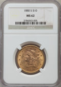 Liberty Eagles: , 1880-S $10 MS62 NGC. NGC Census: (239/38). PCGS Population(156/51). Mintage: 506,250. Numismedia Wsl. Price for problem fr...