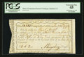Colonial Notes:Connecticut, Connecticut Interest Payment Certificate. January 23, 1792. CutCancelled. PCGS Extremely Fine 45.. ...