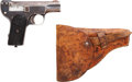 Handguns:Semiautomatic Pistol, Charles PH. Clement Liege Semi-Automatic Pistol with Leather Holster....