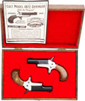 Handguns:Derringer, Palm, Cased Pair of IAR Inc. Colt Replica Model 1872 Single ShotDerringers... (Total: 2 Items)