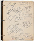 "Movie/TV Memorabilia:Documents, A Henry Fonda and Other Cast Members Signed Script from ""12 AngryMen.""..."