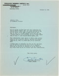 Movie/TV Memorabilia:Autographs and Signed Items, A Frank Sinatra Signed Document, 1956....