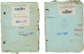"""Movie/TV Memorabilia:Documents, Two Lon Chaney-Related Scripts from """"Mockery.""""..."""