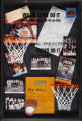 Basketball Collectibles:Others, 1969-70 Red Holzman New York Knicks Signed Court Display....