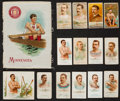 Olympic Cards:General, 1880's-1910's Oarsman/Rowing Sports Cards & Silks Collection(31). ...