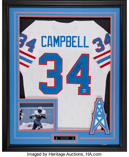 on sale 37e53 f023d Earl Campbell Signed Jersey Display.... Football ...