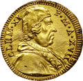 Italy:Papal States, Italy: Papal States. Clemente XI gold 1/2 Scudo d'oro Year 17(1716),...