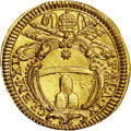 Italy:Papal States, Italy: Papal States. Clemente XI 1/2 gold Scudo d'oro Year 9(1709),...