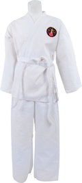 Music Memorabilia:Costumes, Elvis Presley - A Karate Gi Signed by Kang Rhee, Circa 1970s.... (Total: 7 Items)