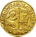 Italy:Venice, Italy: Venice. Francesco Loredan gold Striking of a Silver 1/4Ducato (2 Zecchini) ND (1752-62)-GAC,...