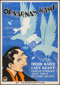 "Movie Posters:War, The Eagle and the Hawk (Paramount, 1933). Swedish One Sheet (27.75"" X 39""). War.. ..."