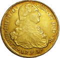 Colombia, Colombia: Carlos IV gold 8 Escudos 1793 P-JF,...