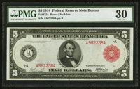 Fr. 832a $5 1914 Red Seal Federal Reserve Note PMG Very Fine 30