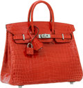 Luxury Accessories:Bags, Hermes 25cm Shiny Bougainvillea Nilo Crocodile Birkin Bag with Palladium Hardware. ...