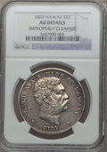 Coins of Hawaii: , 1883 $1 Hawaii Dollar -- Improperly Cleaned -- NGC Details. AU. NGCCensus: (25/172). PCGS Population (61/193). Mintage: 50...