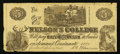 Obsoletes By State:Ohio, Cincinnati, OH- Nelson's College $5 Sep. 1, 1880. ...