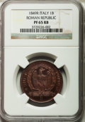 Italy: , Italy: Roman Republic Proof Baiocco 1849-R,...