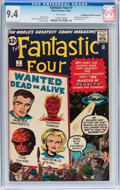 Silver Age (1956-1969):Superhero, Fantastic Four #7 Don/Maggie Thompson Collection pedigree (Marvel,1962) CGC NM 9.4 White pages....