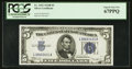 Small Size:Silver Certificates, Fr. 1652 $5 1934B Silver Certificate. PCGS Superb Gem New 67PPQ.. ...