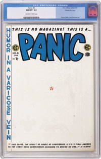 Panic #6 Gaines File pedigree 1/7 (EC, 1955) CGC NM/MT 9.8 Off-white to white pages. With the success of Mad, the powers...