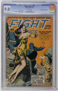 """Golden Age (1938-1955):War, Fight Comics #37 Davis Crippen (""""D"""" Copy) pedigree (Fiction House,1945) CGC VF/NM 9.0 Off-white pages. Tiger Girl cover by ..."""