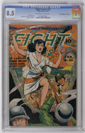 """Golden Age (1938-1955):War, Fight Comics #36 Davis Crippen (""""D"""" Copy) pedigree (Fiction House,1945) CGC VF+ 8.5 Off-white to white pages. Tiger Girl is..."""