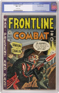 Golden Age (1938-1955):War, Frontline Combat #1 Gaines File pedigree 3/9 (EC, 1951) CGC NM+ 9.6Off-white pages. Here's a wonderful copy of the premiere...