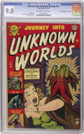 "Golden Age (1938-1955):Horror, Journey Into Unknown Worlds #14 Davis Crippen (""D"" Copy) pedigree(Atlas, 1952) CGC VF/NM 9.0 Off-white to white pages. The ..."