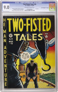 "Golden Age (1938-1955):War, Two-Fisted Tales #18 Davis Crippen (""D"" Copy) pedigree (EC, 1950)CGC VF/NM 9.0 Off-white to white pages. When this first is..."