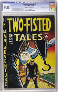 "Two-Fisted Tales #18 Davis Crippen (""D"" Copy) pedigree (EC, 1950) CGC VF/NM 9.0 Off-white to white pages. When..."