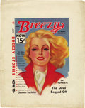 Pulps:Miscellaneous, Breezy Stories Cover Proof Set (Young Publications, 1939)....