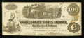Confederate Notes:1862 Issues, T40 $100 1862 PF-9 Cr. UNL.. ...