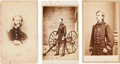 Photography:CDVs, Lot of Three Cartes de Visite of Identified Union Naval Officers.... (Total: 3 Items)