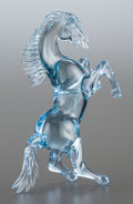 Art Glass:Other , A VENETIAN MURANO BLUE GLASS FIGURE OF A STALLION. 20th century.11-1/4 inches high (28.6 cm). ... (Total: 2 Items)