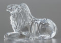 Art Glass:Other , A WATERFORD MOLDED CLEAR GLASS FIGURE OF A LION. Late 20th century.Marks: WATERFORD. 4-5/8 x 7 x 2-1/4 inches (11.7 x 1...