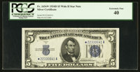 Fr. 1654* $5 1934D Wide II Silver Certificate. PCGS Extremely Fine 40