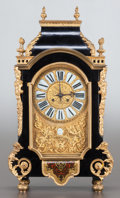 Paintings, A LOUIS XV-STYLE EBONIZED WOOD AND GILT BRONZE MOUNTED CLOCK RETAILED BY TIFFANY & CO. . Tiffany & Co., New York, New York, ...